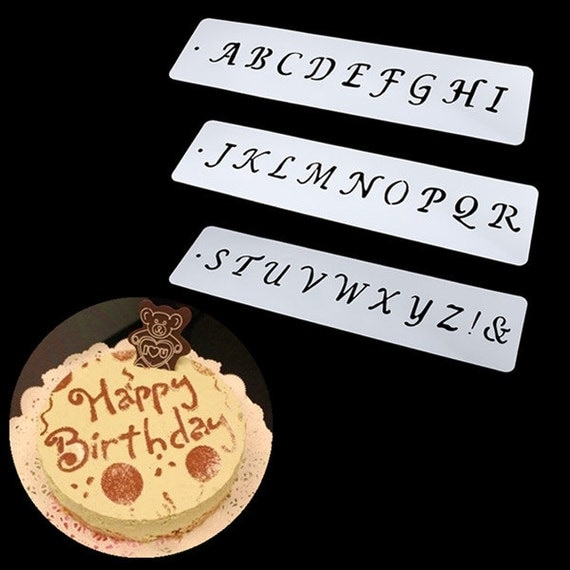 6PCS Numeral Alphabet Letter Fondant Mould by ...