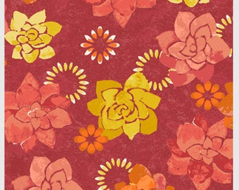 Island Breeze by P&B Textiles 865-O white orange pink yellow tonal dahlias floral flowers bright  sewing quilting 100% cotton fabric