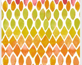 Island Breeze by P&B Textiles 863-O white orange pink yellow bright  sewing quilting 100% cotton fabric