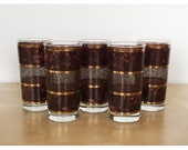 Set of 5 Georges Briard Goldnet Tortoiseshell and Gold Tumblers