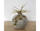 Stoneware Studio Pottery Weed Pot