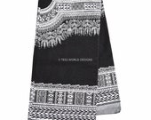 Wholesale High quality Black and White Dashiki Print/ African Fabric/ Dashiki Fabric/ African Print/ Supplies/ Large design 6 yards DS18