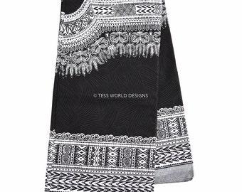 Quality Black/White Java Dashiki Print/ African Fabric/ Dashiki Fabric/ African Print/ Supplies/6 yards / Large design WP631