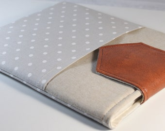 8 inch IPad Mini 4 Case iPad Mini Cover Padded iPad Mini 4 Sleeve with Pocket and Leather Flap Closure
