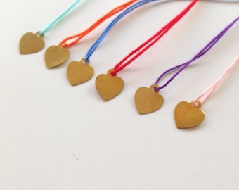 String bracelet, Lucky bracelet, wish bracelet, amulet, Adjustable bracelet, Friendship bracelet, Bridesmaid gift, Make a wish