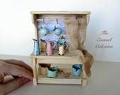 Dollhouse Miniature Furniture- Enamel Kitchen