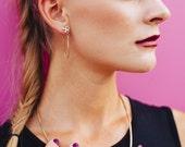 X Chain Earrings