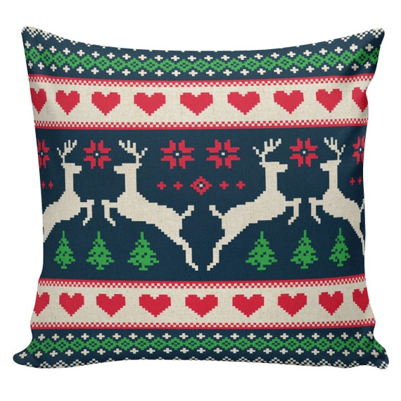 Items similar to Christmas Pillow Vintage Burlap Pillow Cover Scandinavian Swedish Minnesota ...