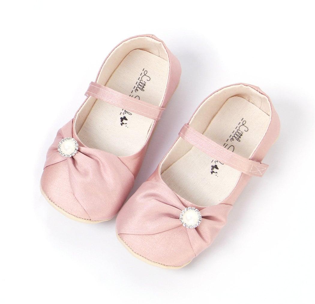 blush wedding shoes girls shoes flower girl shoes by littleserah. Black Bedroom Furniture Sets. Home Design Ideas