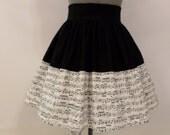 Sheet Music / Music Lovers Skirt