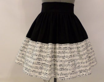 Sheet Music / Music Lovers Skirt
