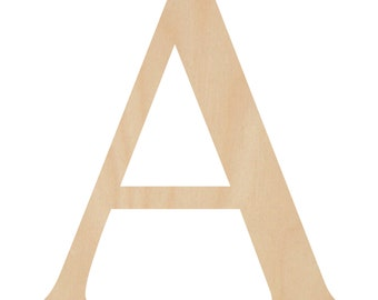 SALE - 18 inch A in Georgia font wooden letters