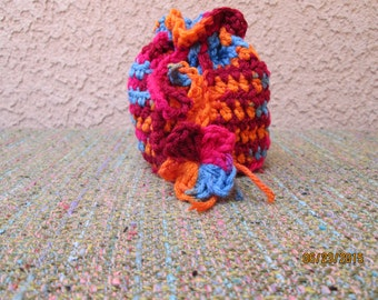 Drawstring Pouch Crocheted