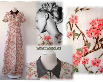 Maxi cotton flowers dress