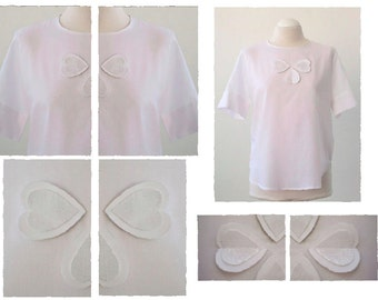 Cotton and polyester hearts shirt. Luci Lü