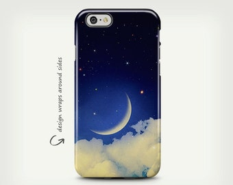 Stars and Moon, iPhone 7 Case, iPhone 6 Case, Night Sky, iPhone SE Case, iPhone 6s Case, iPhone 7 Plus Case, Galaxy S8 Case, Galaxy S8 Plus