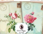 75% OFF SALE FRENCH Roses Aceo Digital Collage Sheet Digital Shabby chic Instant Download