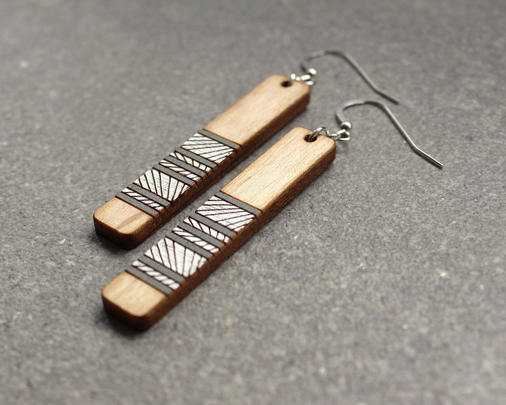 How To Make Hand Painted Wood Earrings