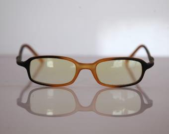 Vintage Black degrading to  Golden Yellow Frame, Light Yellow lenses.