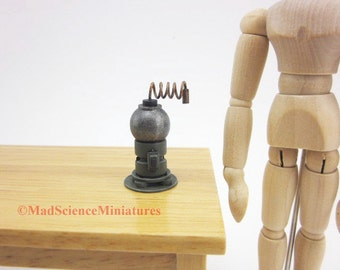 Mad Science Laboratory Equipment Dollhouse Miniature D218 1:12 Scale Model Spooky Weird Sci Fi Halloween Accessory Victorian Scientist Lair