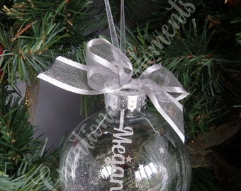 Personalised Christmas Bauble Tree Decoration Handmade