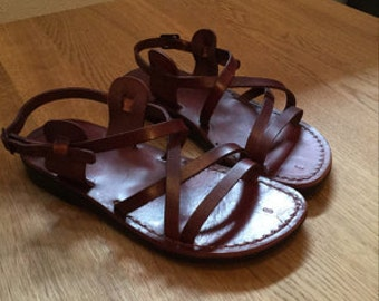 Leather Sandals Men Women, Men's Women's Shoes, LONDON, Flip Flops, Biblical Sandals, Jesus Sandals