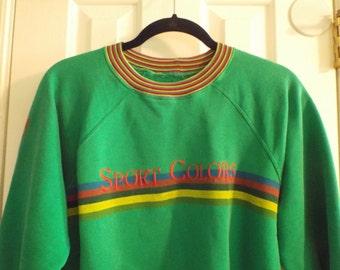 Bright Green Sweatshirt From Italy