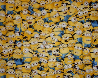 Yellow Minion Toss Cotton Fabric by the Yard