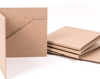 10 Kraft CD Cases 2 Pocket | Wedding Favor | Photography Packaging | Recycled | Box Item #2