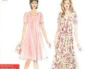 Simplicity Dress Pattern 7203 - Misses' Easy Flared A-Line Dress in Two Lengths - Simplicity Patterns - Sz XS/S/M/L/XL