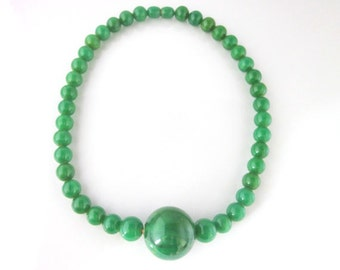 French bakelite beads necklace
