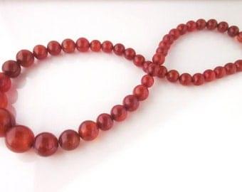 Art deco amber bakelite necklace