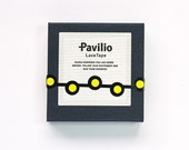 """CLEARANCE!!  Japanese Designer Washi Tape Pavilio Lace Tape Mini """"TAMAGO"""" in yellow 10 mm x 6 meters"""