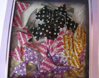 "CLEARANCE Photo Trip Glitter Sticker Set ""Bows"" set of 50"