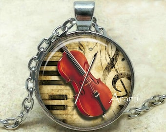 Cello art pendant, cello necklace, cello pendant, cello jewelry, music pendant, music necklace, music jewelry, orchestra, Pendant#HG137P