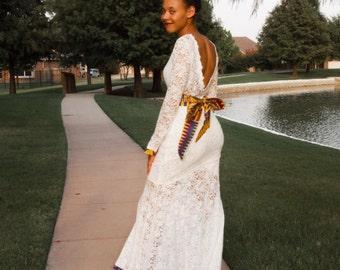 Bridal.... Bridesmaids with a kente belt