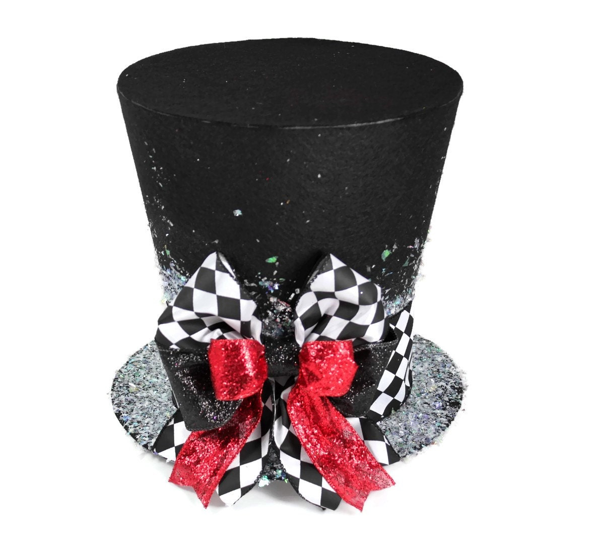 Christmas Tree Hats: Christmas Tree Topper Unique Top Hat Tree Topper Whimsical
