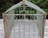 Antique Wrought Iron Greenhouse Terrarium Frame