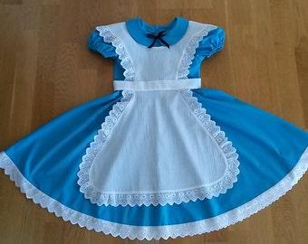 Alice in Wonderland dress. Halloween costume for girls. Alice dress. Alice costume.
