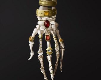 Catacombs - 8x10 fine art print - skeleton art, anatomy art, bones, painting, giclee print, archival print, gothic art