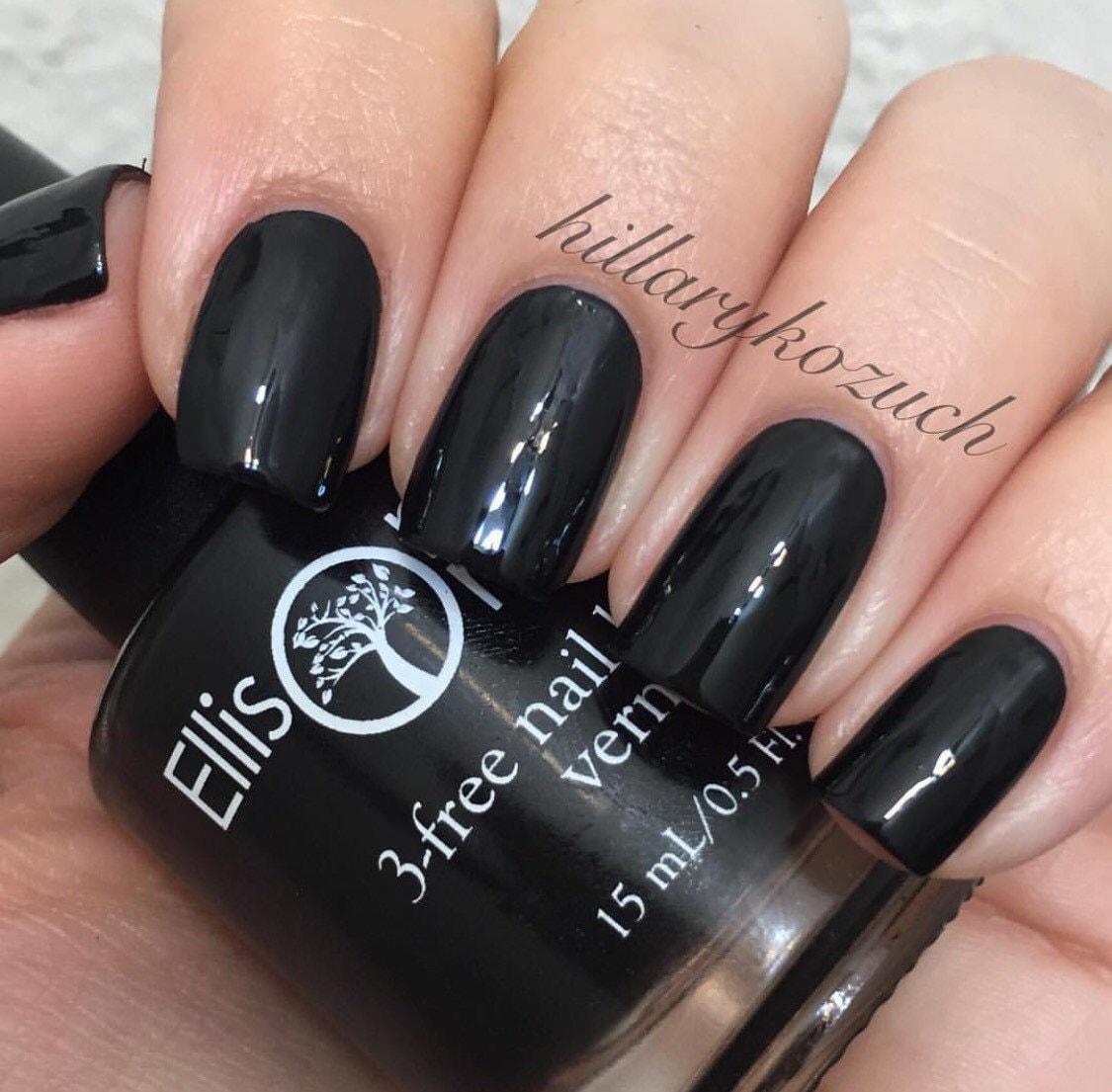 Black Nail Varnish Verruca: Vegan Nail Polish