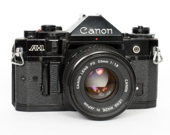 Canon A-1 with 50mm f/1.8 Lens