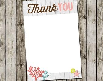 Girl Baby Shower Invitation   Flat Thank You Card   Digital File