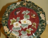 "VINTAGE 90's Chinese  Hand Painted Plate 8.5 ""China Cabinet Plate #4"