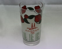 1986 Kentucky Derby Churchill Downs Commemorative Glass Tumbler Showcasing the 112th Running of the Event