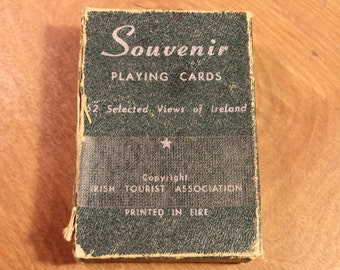 Vintage 52 Selected Views of Ireland Souvenir Playing Cards