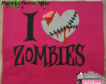 Zombies, I Love Zombies T-Shirt