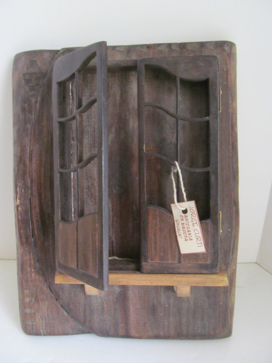 Primitive wood cabinet small wall by