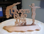 Divers Rule the Pool Handmade Wood Sign