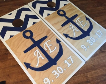 Wedding Inspired Cornhole Board Sets W Bags By Byfolks On Etsy